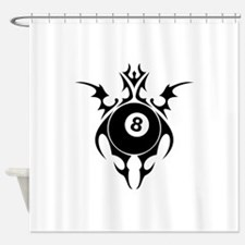 tribal eightball billiards Shower Curtain