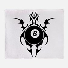 tribal eightball billiards Throw Blanket