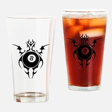 tribal eightball billiards Drinking Glass