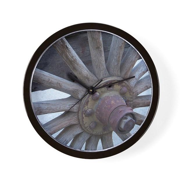 Wagon Wheel Wall Clock by listing-store-115304007