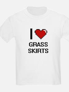 I love Grass Skirts digital design T-Shirt