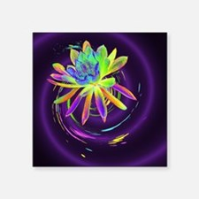 "Psychedelic Flower Square Sticker 3"" x 3"""