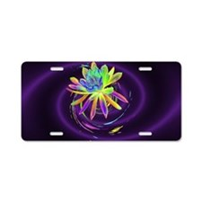 Psychedelic Flower Aluminum License Plate