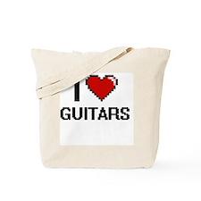 I love Guitars digital design Tote Bag