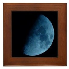 Blue Moon Framed Tile