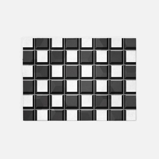 Chess Board 5'x7'Area Rug