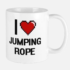 I love Jumping Rope digital design Mugs