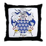 Bayo Family Crest Throw Pillow