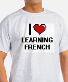I love Learning French digital design T-Shirt
