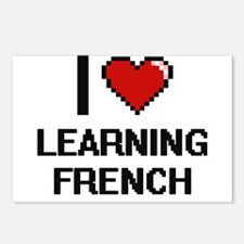 I love Learning French di Postcards (Package of 8)