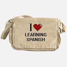 I love Learning Spanish digital desi Messenger Bag