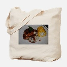 Barbecue Chicken and Corn Tote Bag