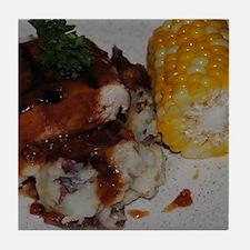 Barbecue Chicken and Corn Tile Coaster
