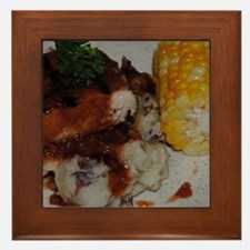Barbecue Chicken and Corn Framed Tile