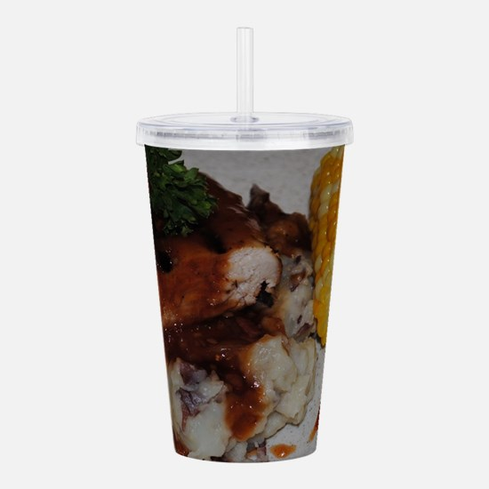 Barbecue Chicken and C Acrylic Double-wall Tumbler