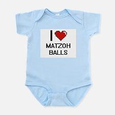 I love Matzoh Balls digital design Body Suit