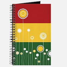 Trendy Floral Pattern Ilustration Journal
