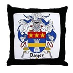 Bayer Family Crest Throw Pillow