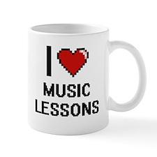 I love Music Lessons digital design Mugs
