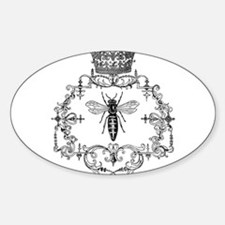Unique Queen bee Sticker (Oval)