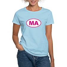 Massachusetts Euro Oval Gree T-Shirt