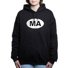 Massachusetts Euro Oval Women's Hooded Sweatshirt