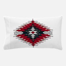 Native Style Red/Black Sunburst Pillow Case