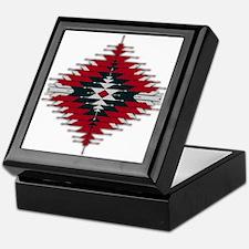 Native Style Red/Black Sunburst Keepsake Box