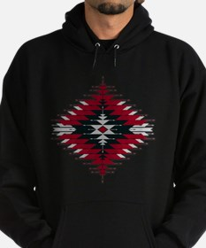Native Style Red/Black Sunburst Hoodie (dark)