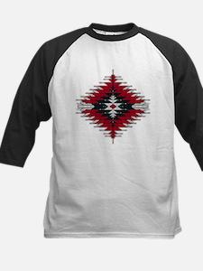 Native Style Red/Black Sunbur Kids Baseball Jersey