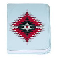 Native Style Red/Black Sunburst baby blanket