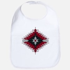 Native Style Red/Black Sunburst Bib