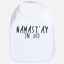 Namast'ay in bed Bib