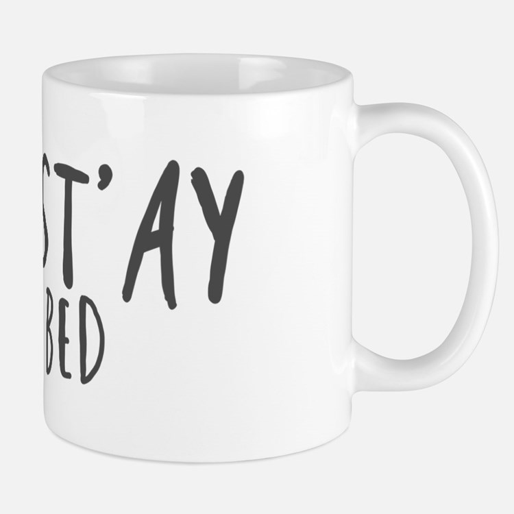 Namast'ay in bed Mugs