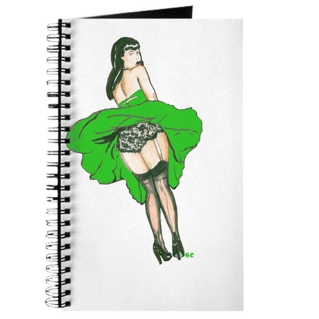 Windy Day Girl - Green Dress Journal