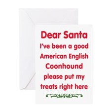 Good American English Coonhound Greeting Cards