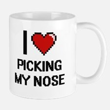 I love Picking My Nose digital design Mugs