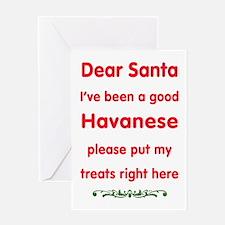 Good Havanese Greeting Cards
