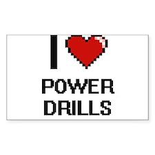I love Power Drills digital design Decal