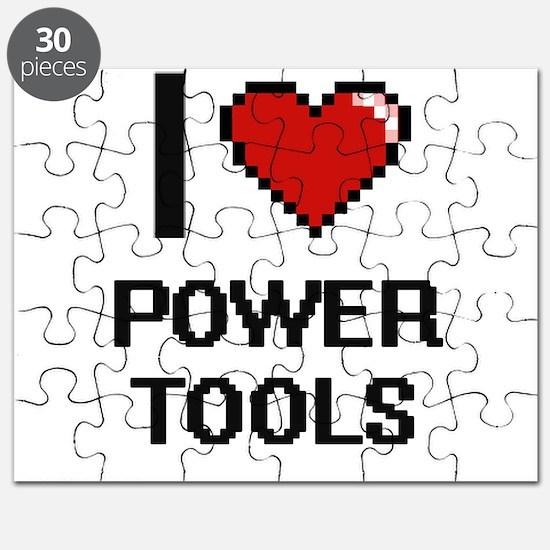 I love Power Tools digital design Puzzle