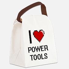 I love Power Tools digital design Canvas Lunch Bag