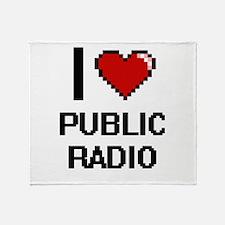 I love Public Radio digital design Throw Blanket
