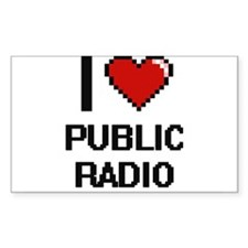 I love Public Radio digital design Decal