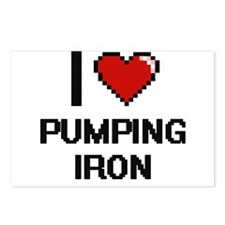 I love Pumping Iron digit Postcards (Package of 8)