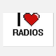 I love Radios digital des Postcards (Package of 8)