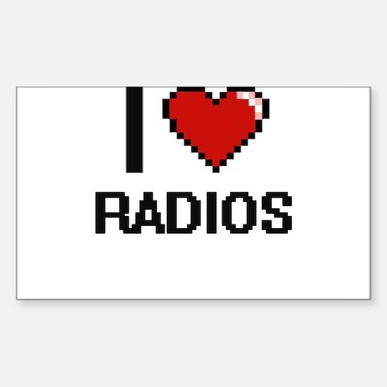 I love Radios digital design Decal