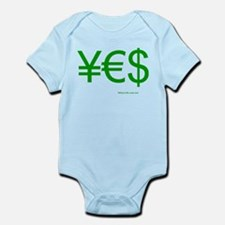 Yen Euro Dollar Infant Bodysuit