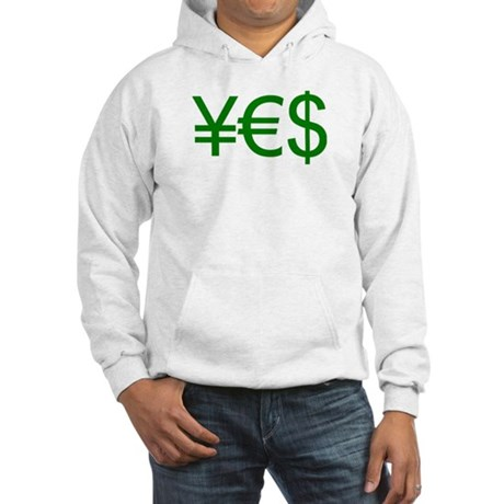 Yen Euro Dollar Hooded Sweatshirt