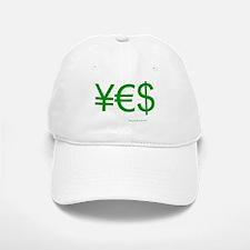 Yen Euro Dollar Baseball Baseball Cap