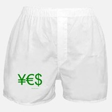 Yen Euro Dollar Boxer Shorts